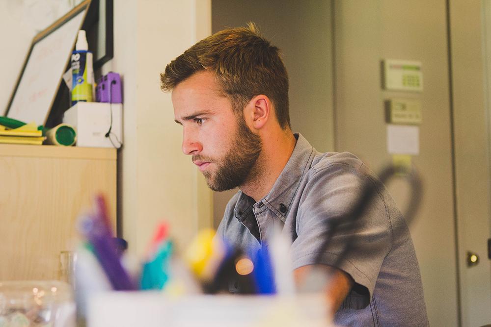 stock image student employee