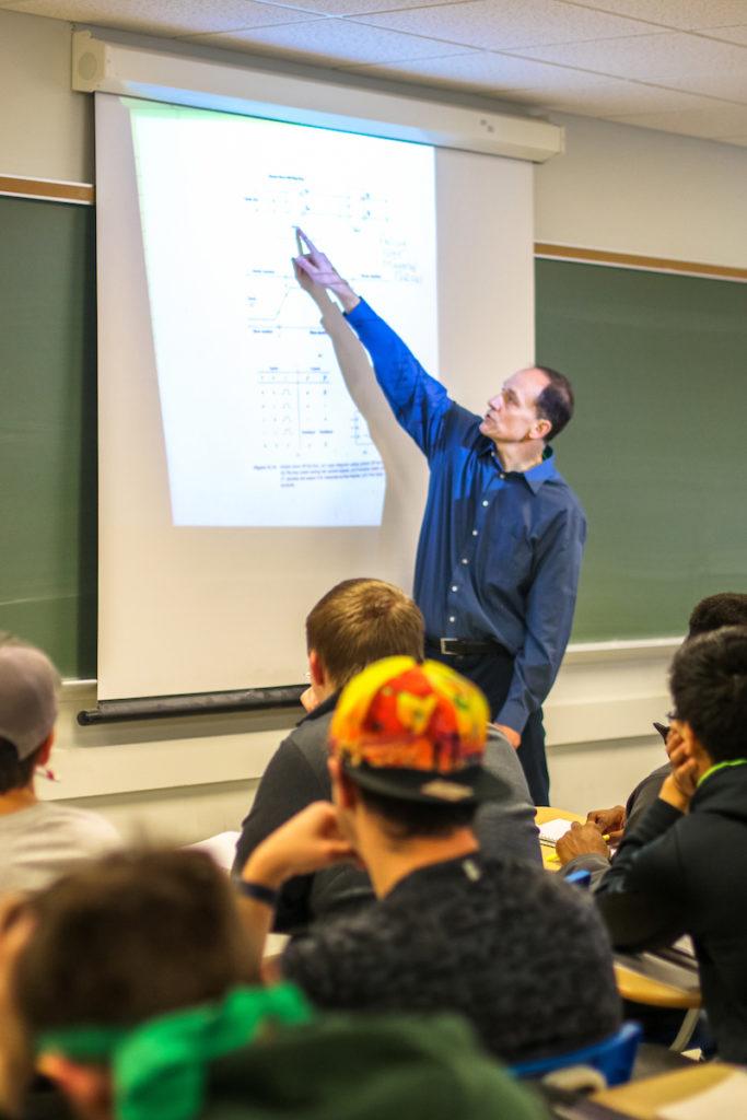 Joe Stanley teaches class