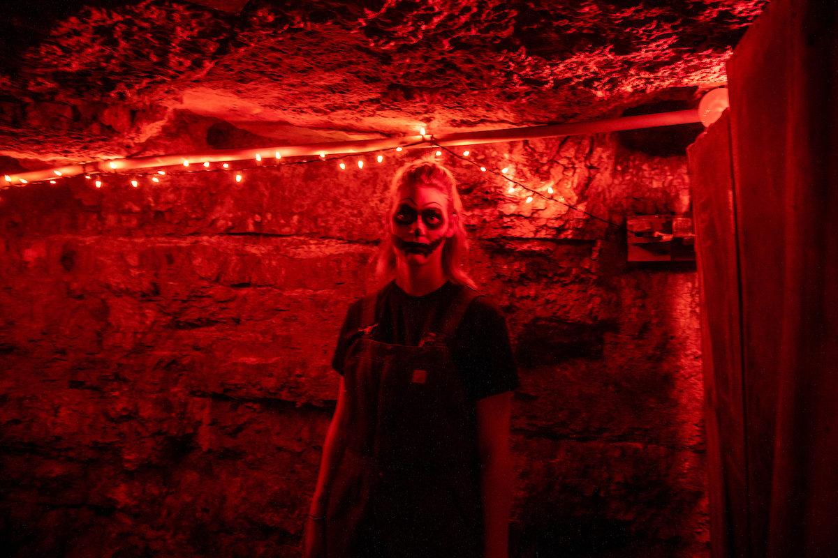 scary Haunted Mine scene