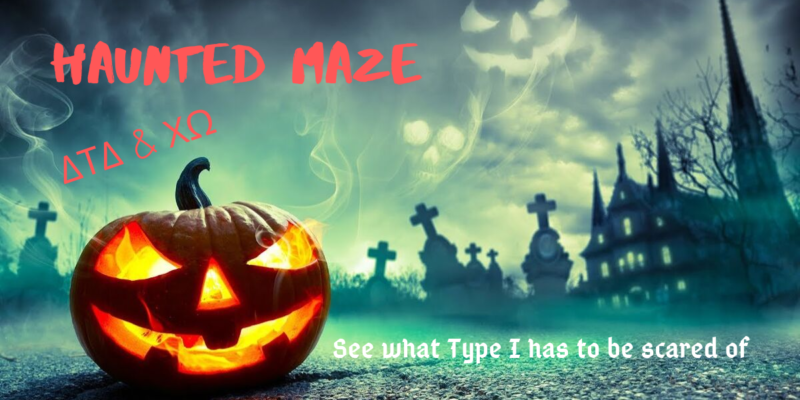 Haunted maze for a good cause