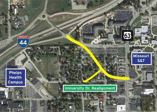 Give your feedback on University Drive realignment
