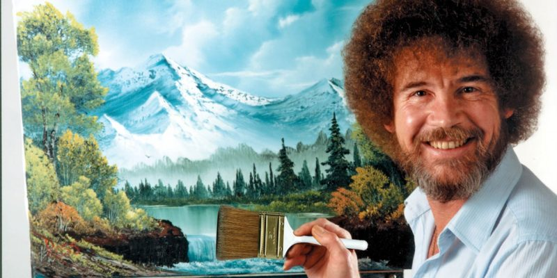 All are welcome to a Bob Ross painting night