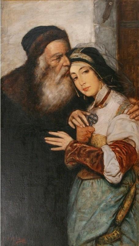 Shylock and Jessica 1887  by Maurycy Gottlieb