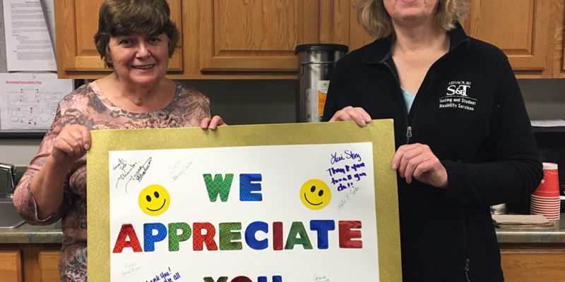Thank you! Staff Council recognizes testing, disability services staff
