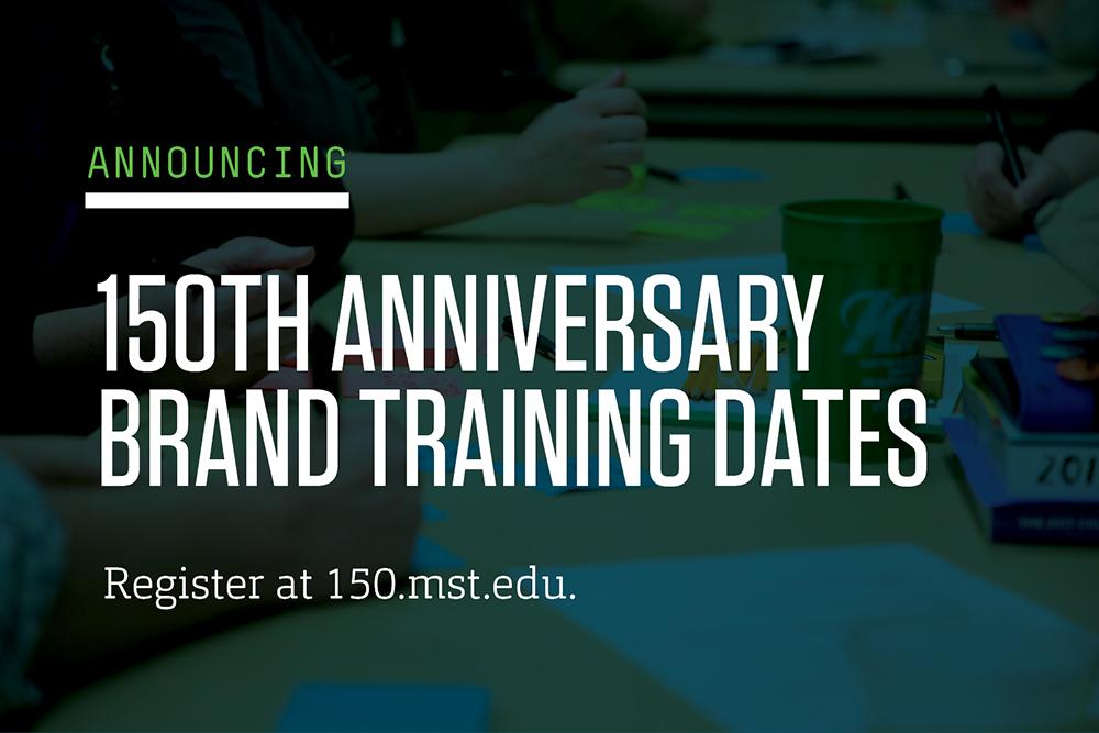 150th anniversary brand training dates