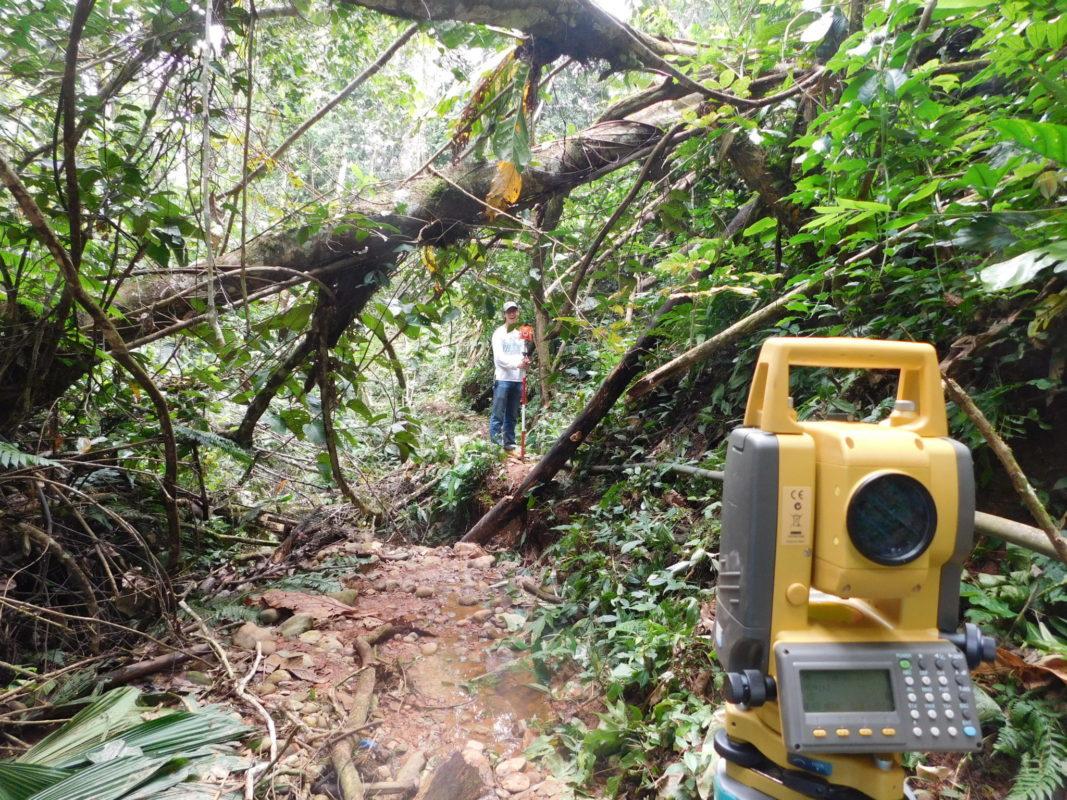 Survey equipment in Bolivia