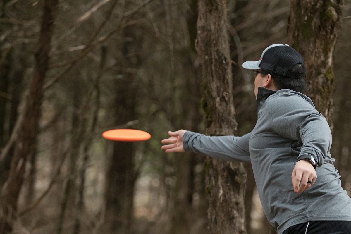 Man throwing disc