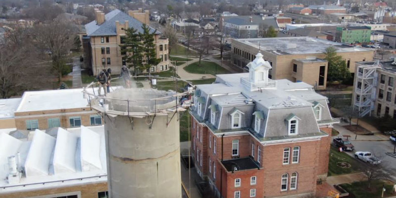 Two-minute video chronicles chimney demo
