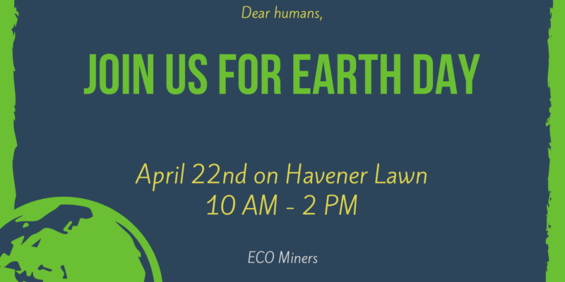 Earth Day booth sign-up