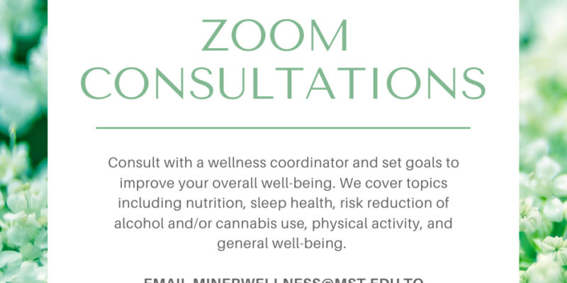 Miner Wellness offers Zoom consultations for students