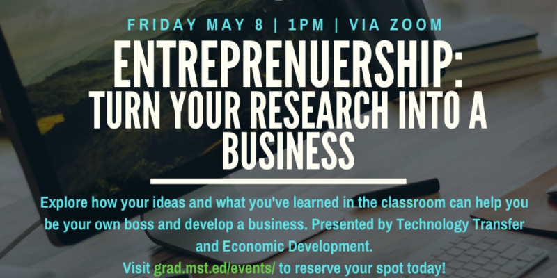 Explore entrepreneurship during webinar