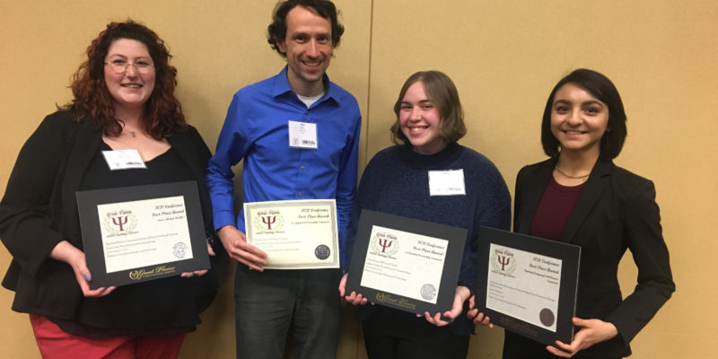 Psychology students honored