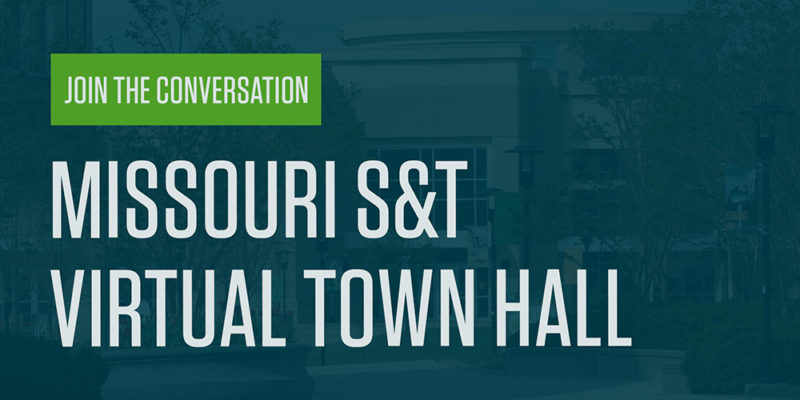 Tomorrow's town hall to focus on fall semester