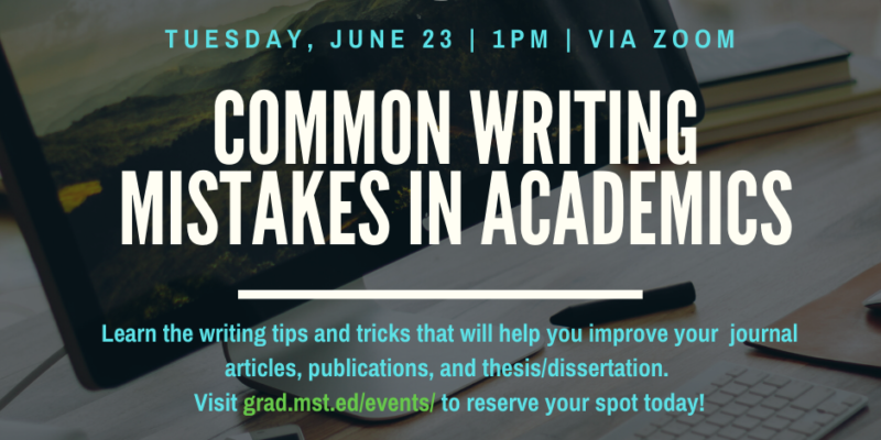 Common Writing Mistakes for Academics Webinar