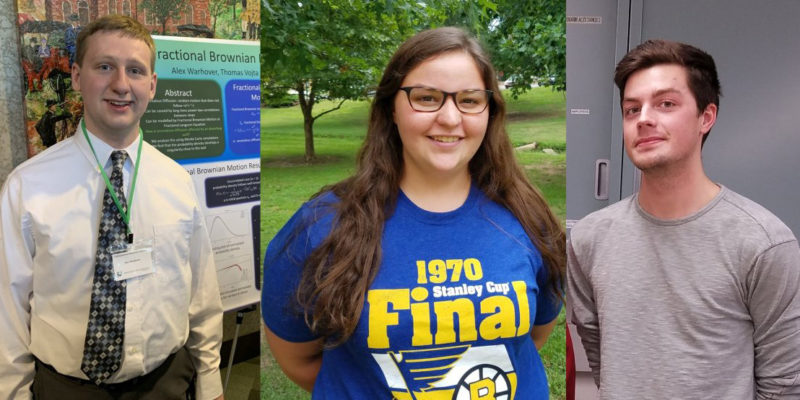 Physics awards go to three students