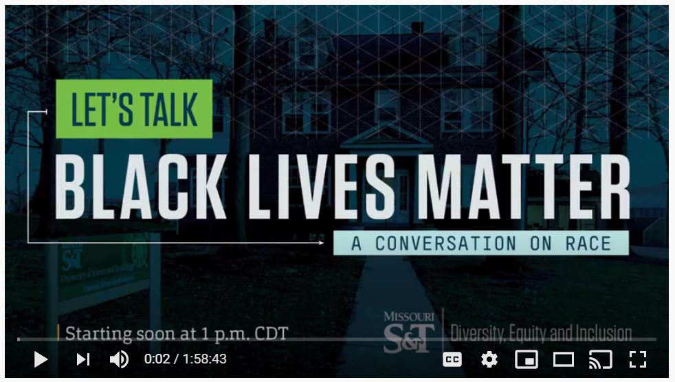 Screenshot: Let's Talk: Black Lives Matter