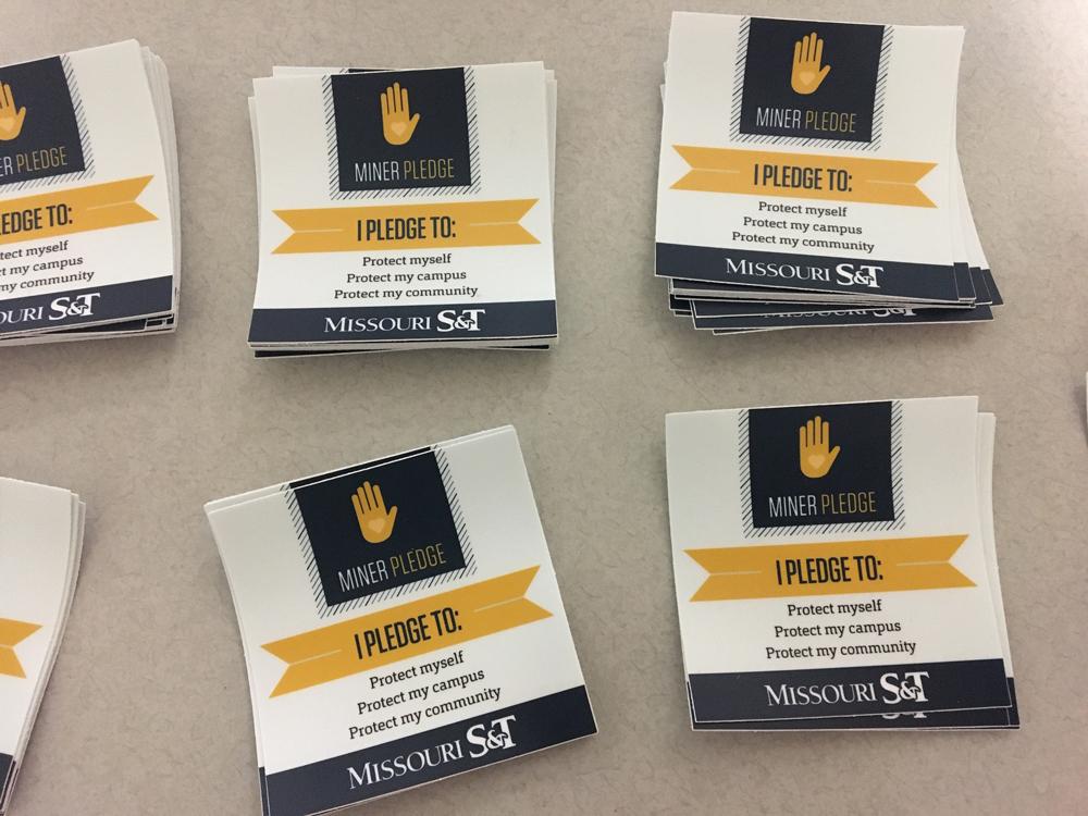 Miner Pledge stickers