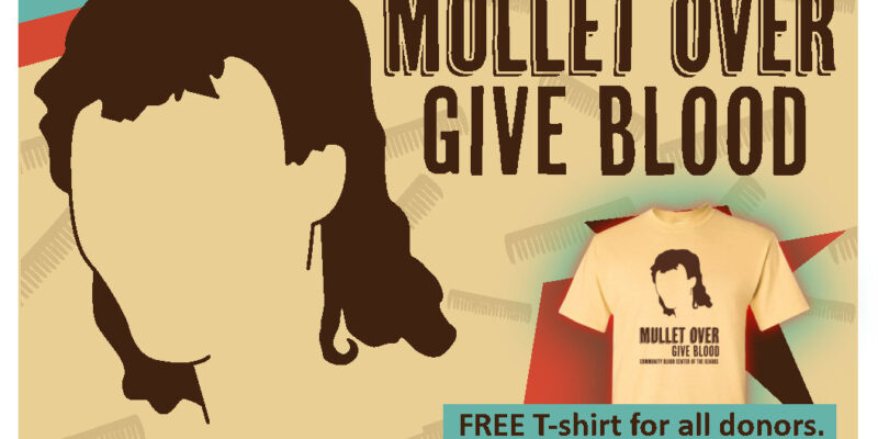 Give blood, get 80s hairstyle-inspired shirt