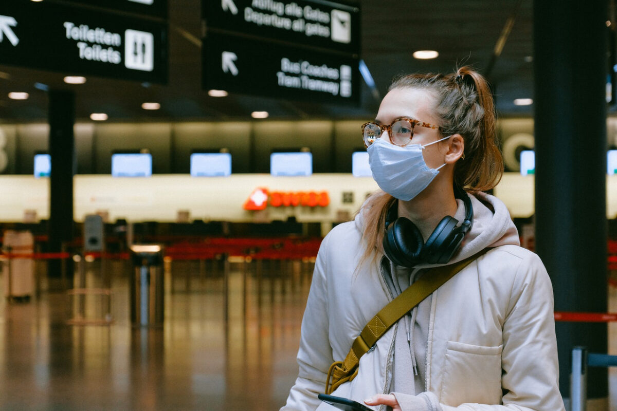 Woman Airport mask