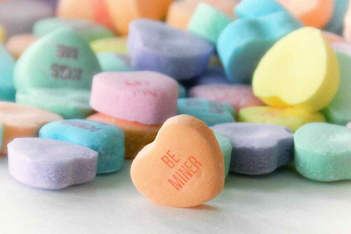 Be Miner candy hearts