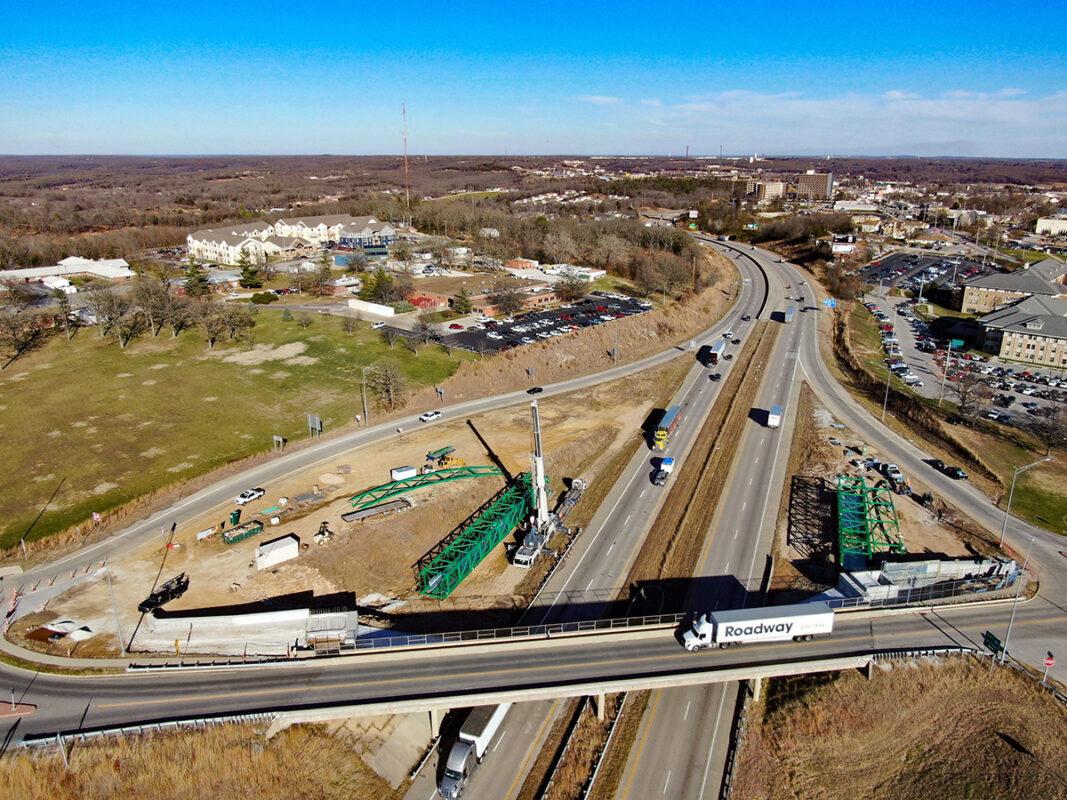 Pedestrian Bridge Construction