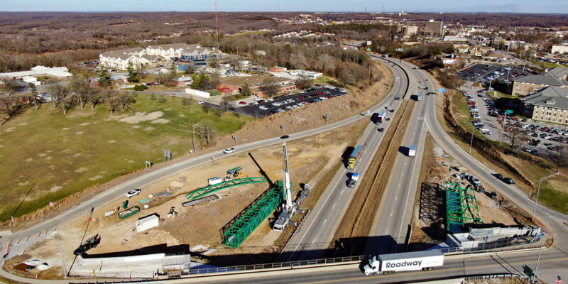 Update: Pedestrian bridge construction to affect area traffic