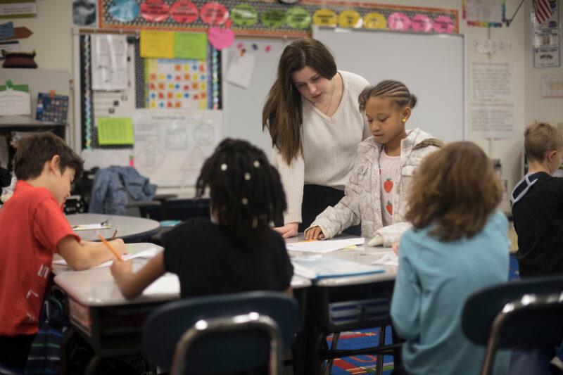 Markley in classroom