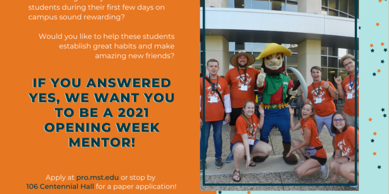 Apply to be a 2021 opening week mentor