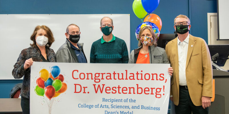 Dean's medal goes to Westenberg