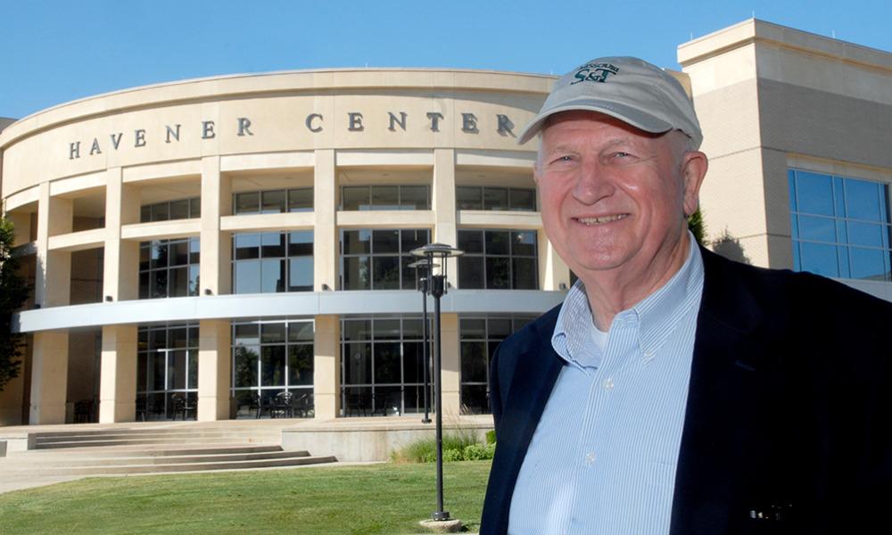 Gary Havener outside Havener Center