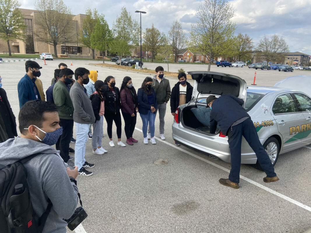 University Police partnered with the International Students Club and local law enforcement agencies for a vehicle maintenance event Wednesday, April 21.