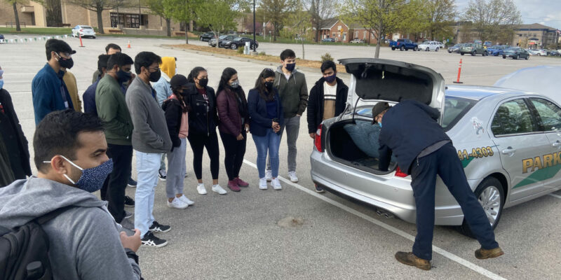 University Police, local law enforcement share car maintenance tips with international students