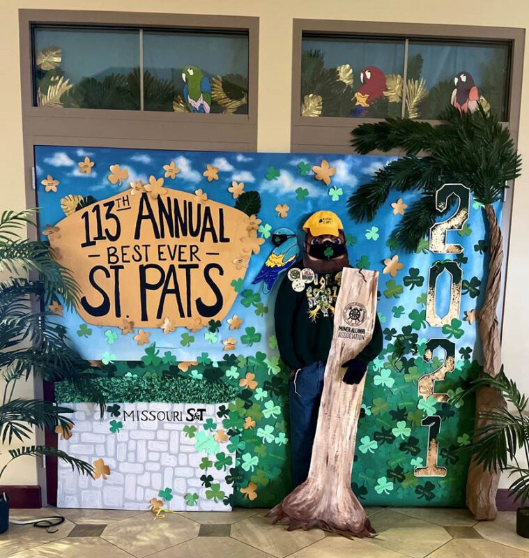Door with St. Pats decorations