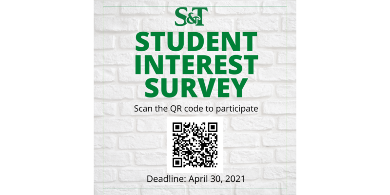 Student Interest Survey open to all S&T students