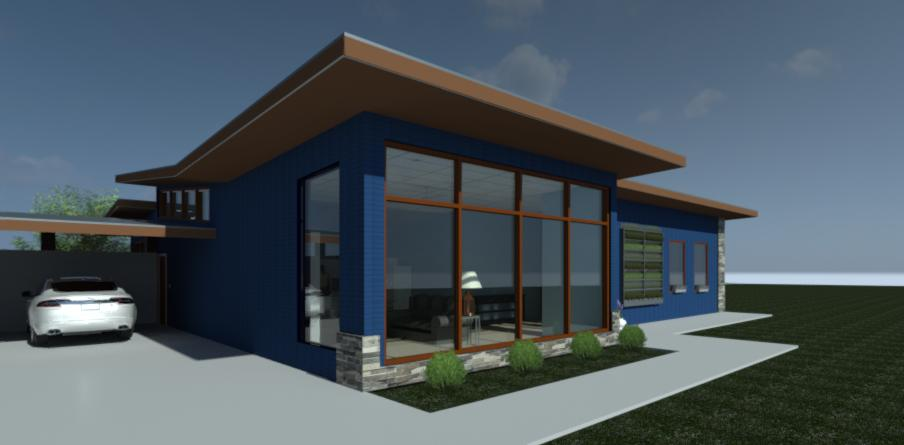 Solar house rendering