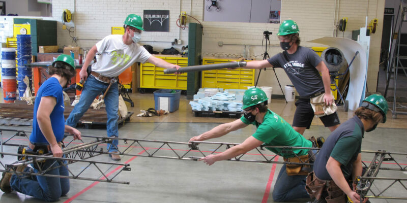 Steel bridge team advances to nationals