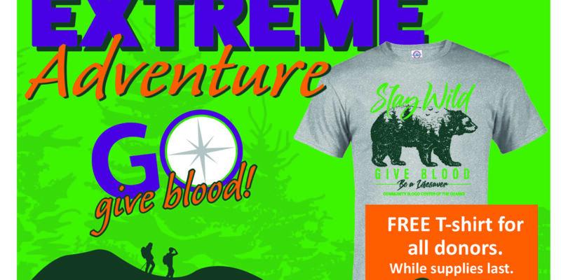Give blood, get wild T-shirt