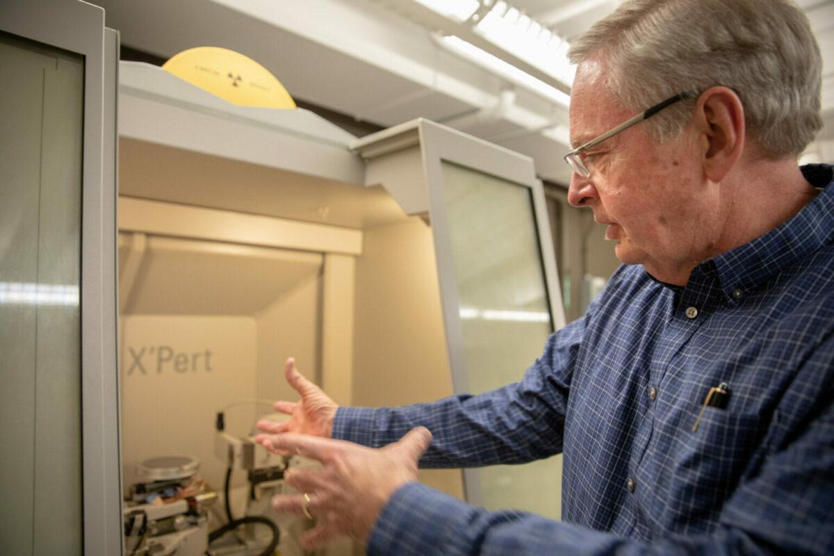 Jay Switzer in lab