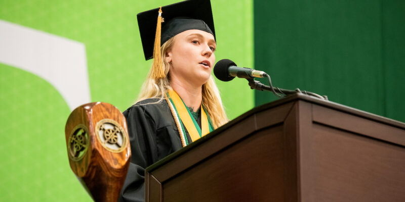 Encourage students to apply to speak at commencement