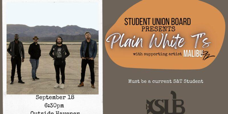 SUB Fall Concert: Plain White T's
