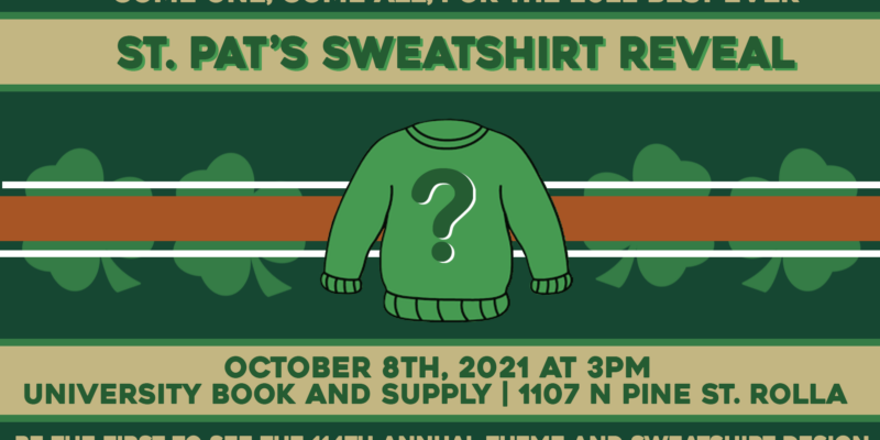 Preview the new St. Pat's sweatshirt design on Oct. 8